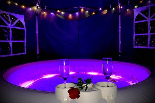 Romantic Package from Horsham Hot Tub Hire. Affordable hot tubs for every occasion.
